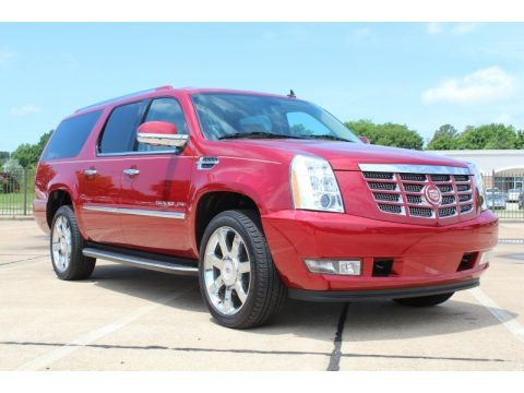 Crystal Red Tintcoat 2013 Cadillac Escalade ESV Luxury