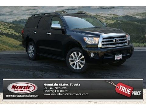 Black 2013 Toyota Sequoia Limited 4WD