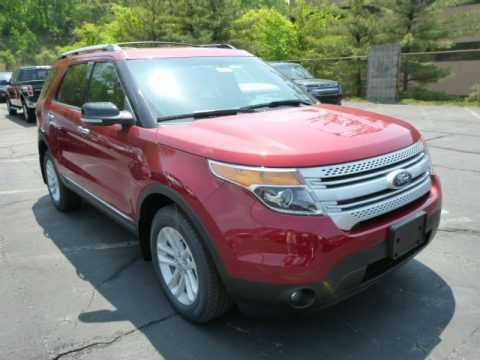Ruby Red Metallic 2013 Ford Explorer XLT 4WD