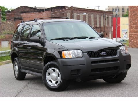 Black Clearcoat 2003 Ford Escape XLS V6 4WD