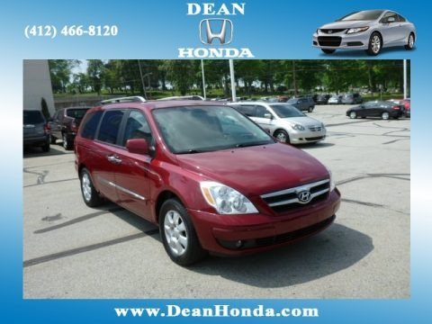 Cranberry Red 2007 Hyundai Entourage SE