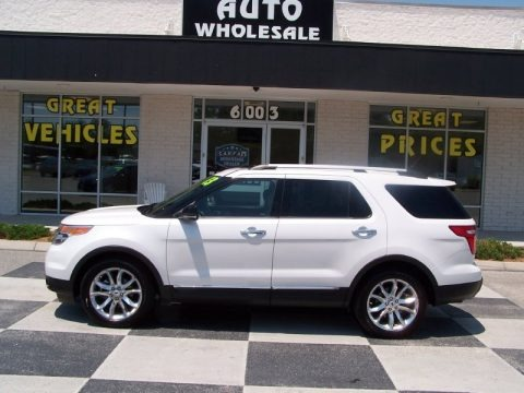 Oxford White 2013 Ford Explorer XLT