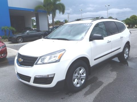 White 2013 Chevrolet Traverse LS