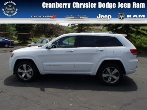 Bright White 2014 Jeep Grand Cherokee Overland 4x4