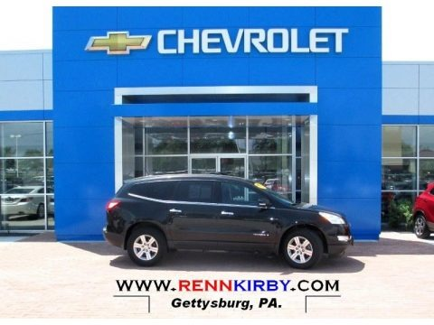 Black Granite Metallic 2009 Chevrolet Traverse LT