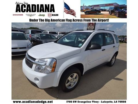 Summit White 2008 Chevrolet Equinox LS