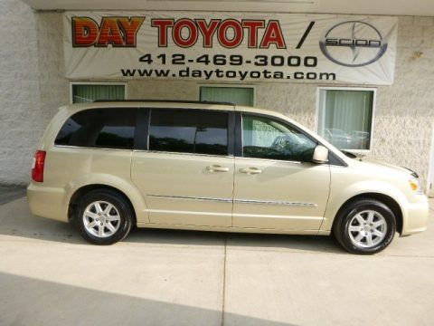 White Gold Metallic 2011 Chrysler Town & Country Touring
