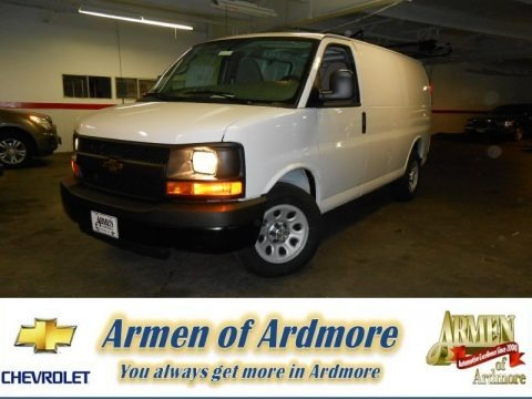 Summit White 2013 Chevrolet Express 1500 Cargo Van