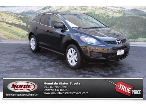 Brilliant Black 2008 Mazda CX-7 Sport