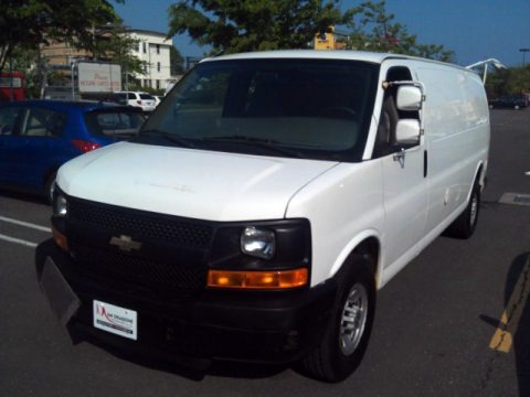 Summit White 2008 Chevrolet Express 3500 Cargo Van