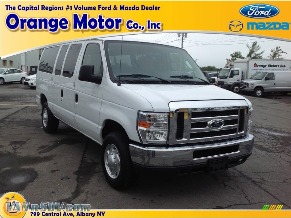 2012 ford e series van e350 xlt passenger in oxford white for Orange motors albany new york