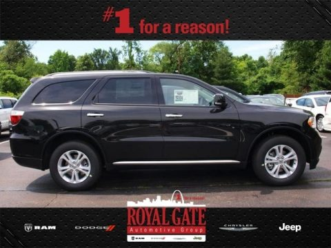 Brilliant Black Crystal Pearl 2013 Dodge Durango Crew AWD