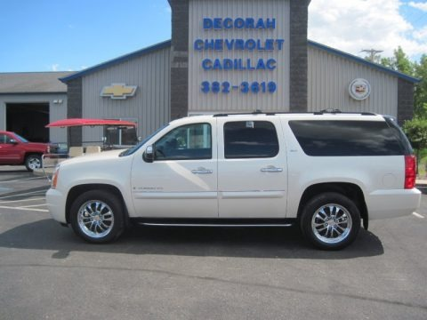 White Diamond Tricoat 2008 GMC Yukon XL SLT 4x4