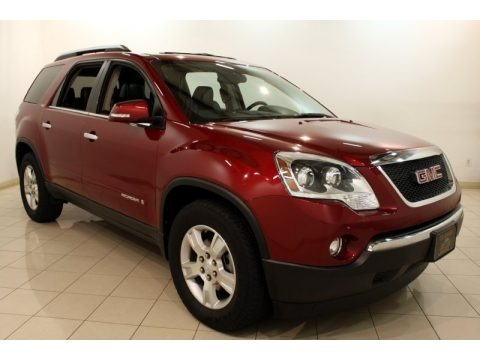 Red Jewel 2008 GMC Acadia SLT AWD