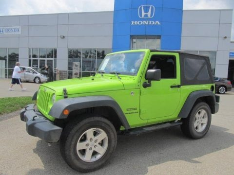 Gecko Green Jeep Wrangler Sport 4x4 SUVs for sale | VANnSUV.com - Vans and SUVs for sale in the US