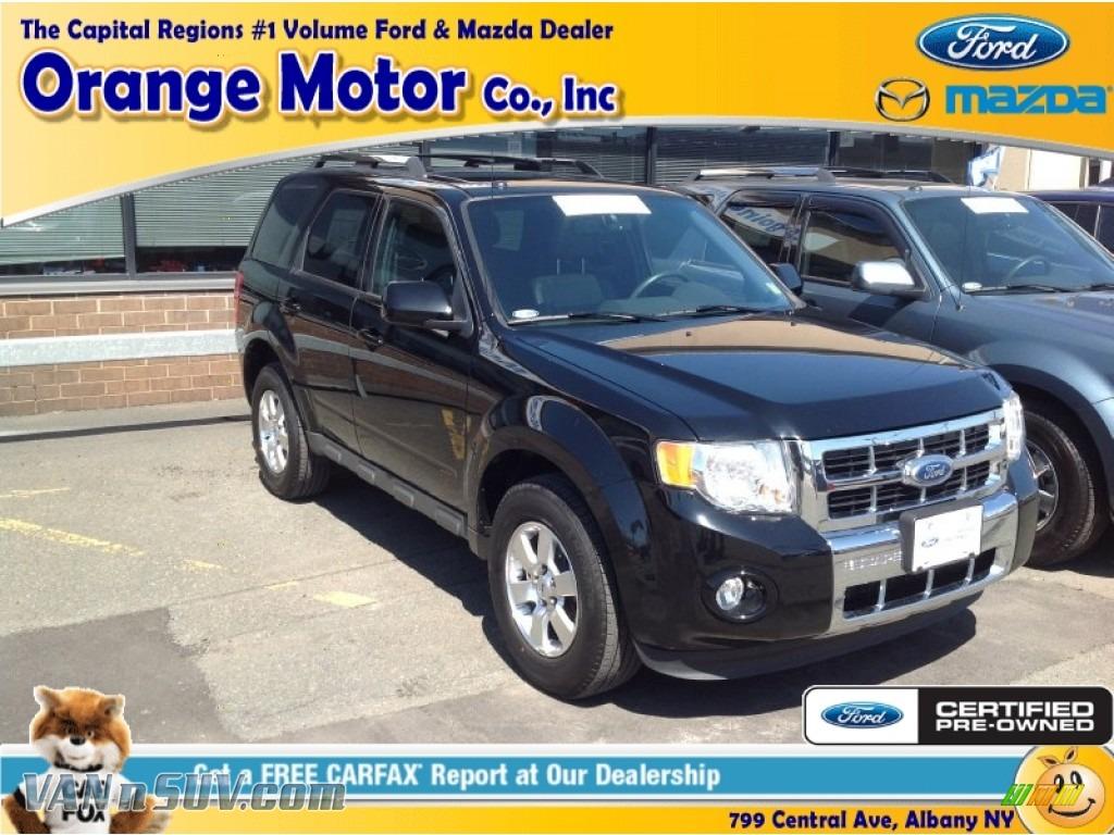 2012 Ford Escape Limited 4wd In Ebony Black B25627