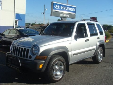 Bright Silver Metallic 2007 Jeep Liberty Sport 4x4